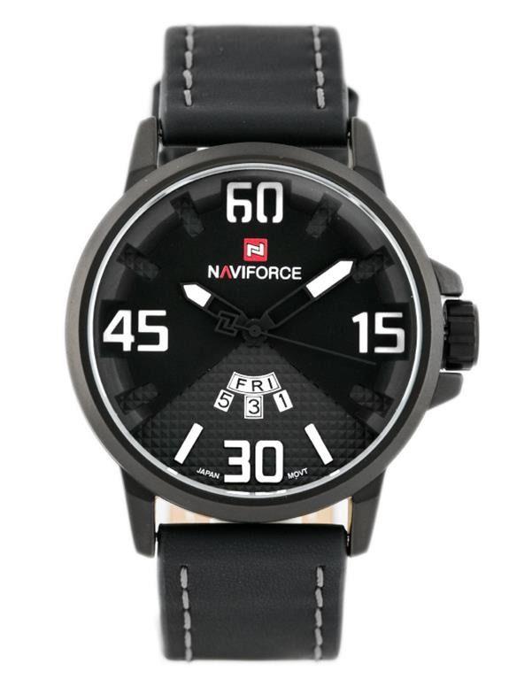 Pánské sportovní hodinky s koženým řemínkem a ukazatelem data v černém provedení..010 C.Q02L9020B9020.2424