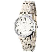 Klasické dámské hodinky s ocelovým řemínkem a římskými indexy..05