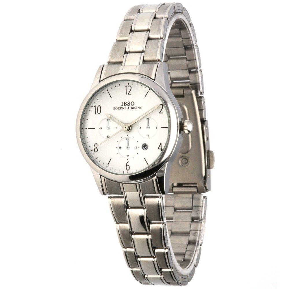 Klasické dámské hodinky s ocelovým řemínkem a ukazatelem data..022 81c12a949b