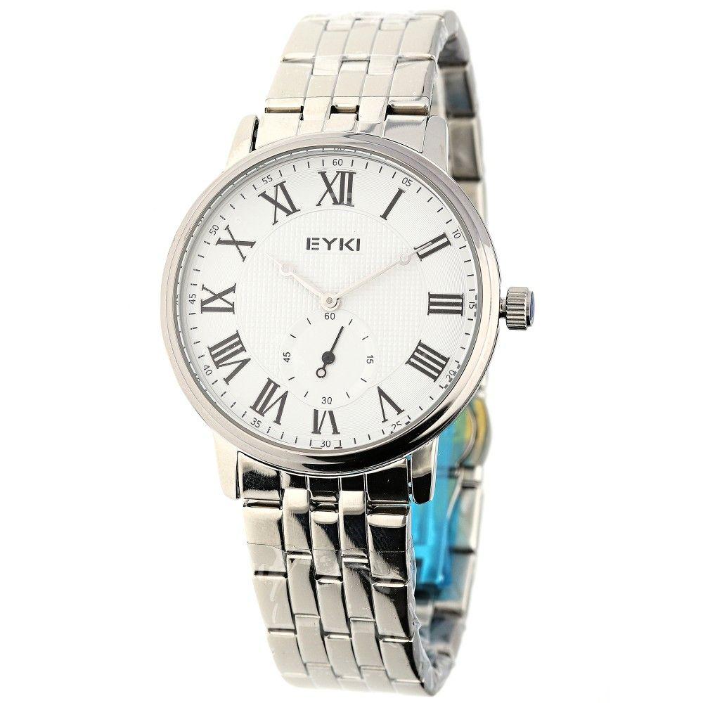 Klasické pánské hodinky s ocelovým řemínkem a římskými indexy..06 A.Q00I00A702018