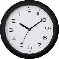 Nástěnné hodiny se zpětným chodem kulaté černé skladem