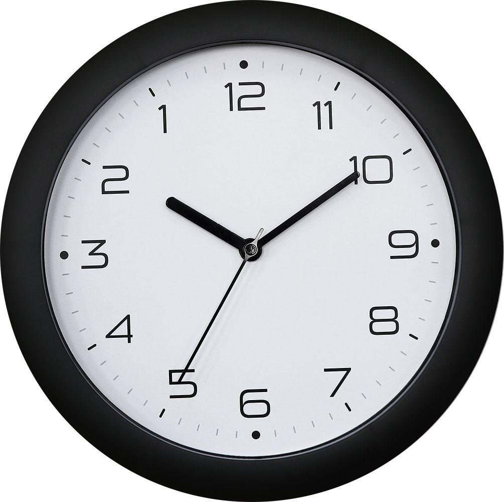 Nástěnné hodiny Nástěnné hodiny se zpětným chodem černá za zeď Nástěnné hodiny