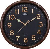 Jednoduché nástěnné PRIM hodiny s ručičkami a čísly svítícími ve tmě..035