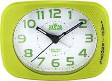 Nástěnné hodiny Plastový ručičkový budík v pestrých barvách s opakovaným a zesilujícím buzením..0110 Nástěnné hodiny