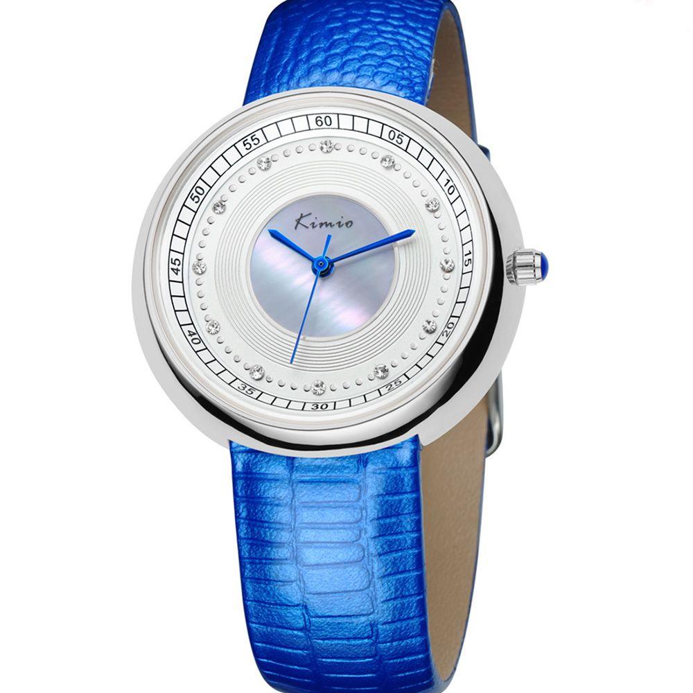 615cd7d03 Dámské hodinky s modrým páskem a stříbrným číselníkem..090 A.Q00I7030B30