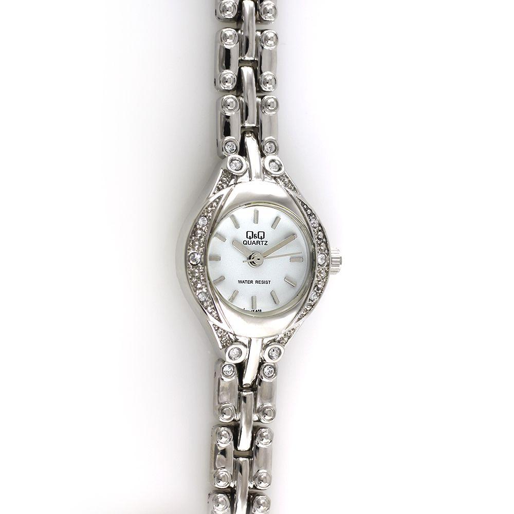Dámské quartzové hodinky do společnosti zdobené brošenými kamínky..0143 97da2e2caf