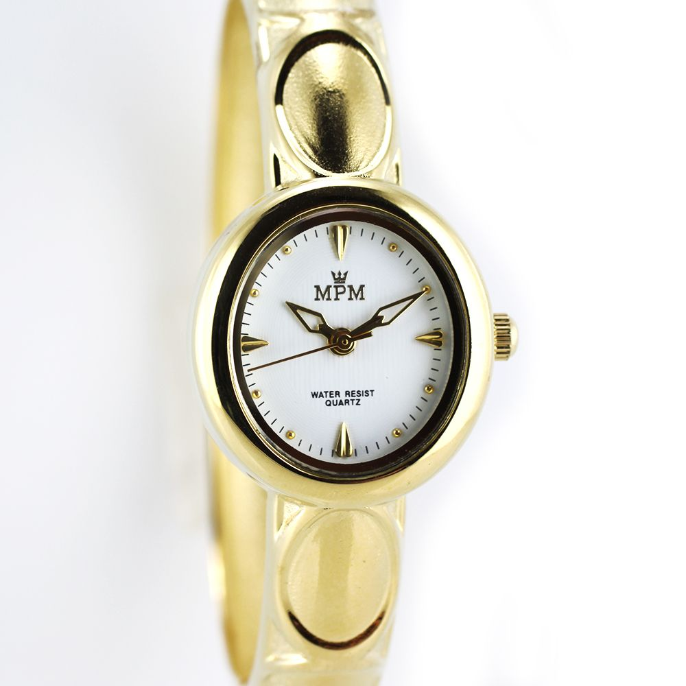 ea32377c65 Nástěnné hodiny Dámské náramkové hodinky na pevném řemínku. Zapínání na  klip..0221 Nástěnné hodiny