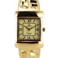 Nástěnné hodiny Dámské hodinky na pevném náramku s římskými indexy..0194 Nástěnné hodiny