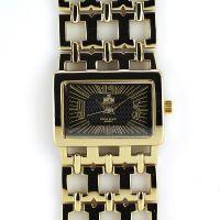 Zlaté dámské hodinky s reliéfním číselníkem..0201