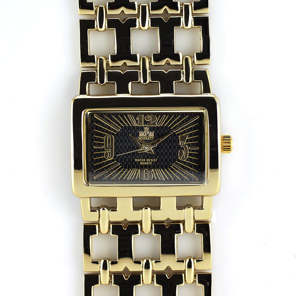 88235994b4 Zlaté dámské hodinky s reliéfním číselníkem..0191 A.Q00J9080A80