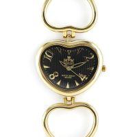 Dámské elegantní hodinky ve tvaru srdce s tmavým číselníkem..0178
