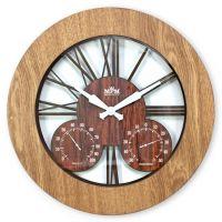 Nástěnné hodiny Multifunkční nástěnné dřevěné hodiny a proskleným ciferníkem..074 Nástěnné hodiny