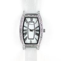 Módní dámské hodinky s perleťovým číselníkem a zirkony..0269
