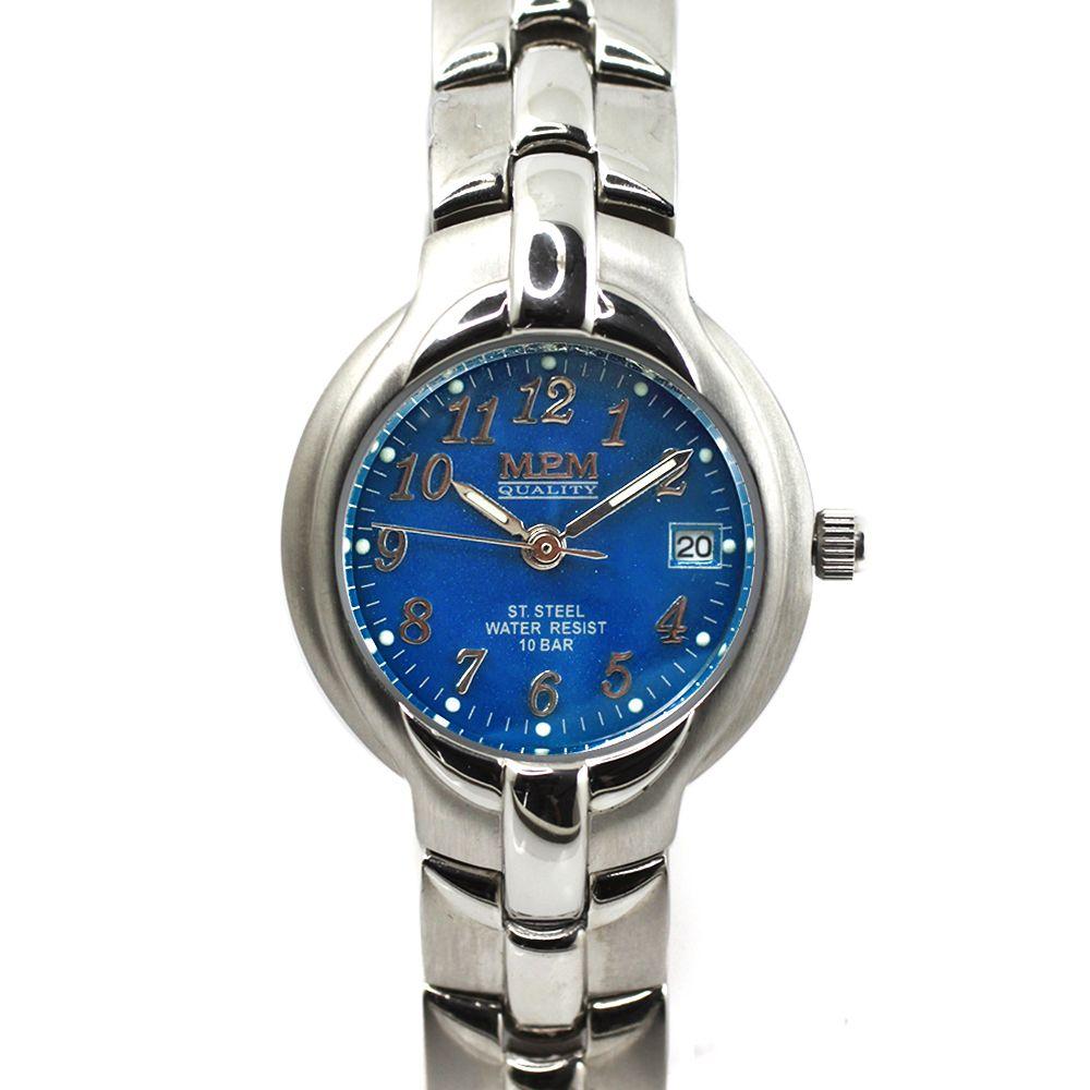 Nástěnné hodiny Stylové dámské hodinky s datumem z ušlechtilé oceli.0404  Nástěnné hodiny 670db55617