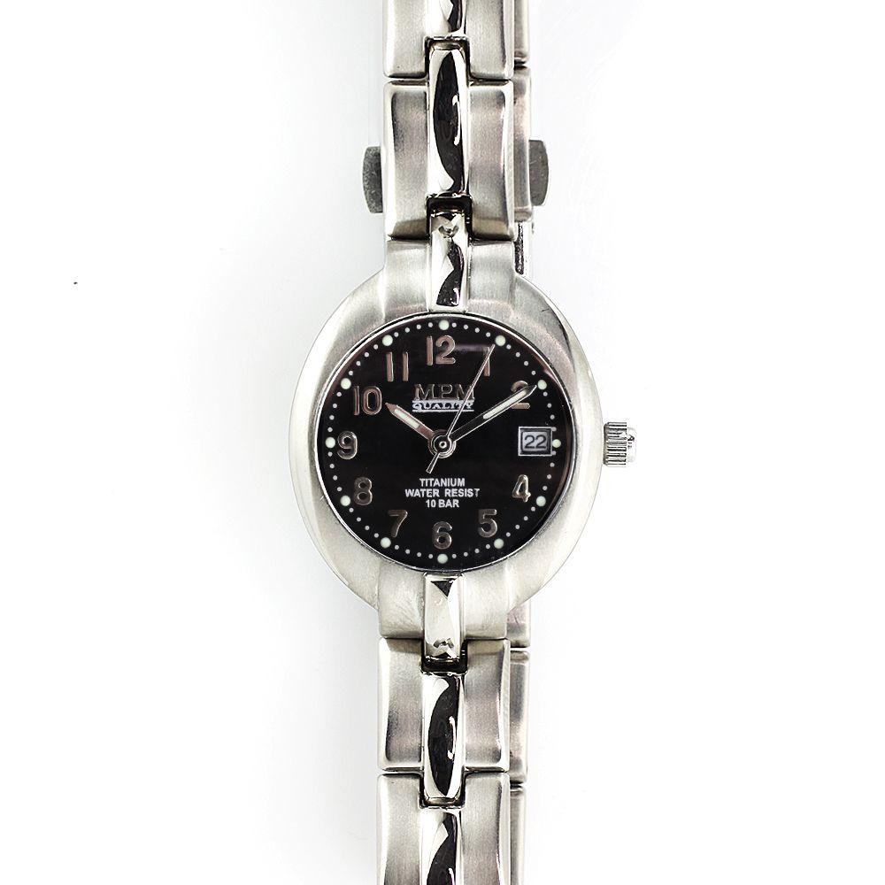 Dámské titanové hodinky s černým číselníkem a datumem.0378  A.Q01F9071J94.03.09 55ef103f58