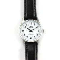 Dámské hodinky s černým koženým páskem..0328
