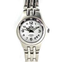 Dámské titanové hodinky s bílým číselníkem a datumem.0390