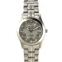 Dámské hodinky s šedým číselníkem, datumem v titanovém pouzdru.0395