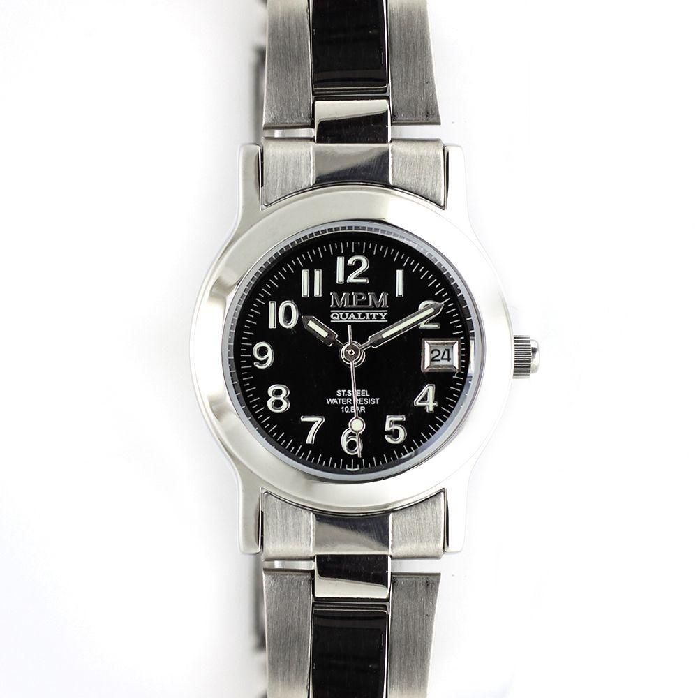 82b9c2184e8 Dámské hodinky s ukazatelem datumu a kombinovaným řemínkem..0346 A.Q01A90A72