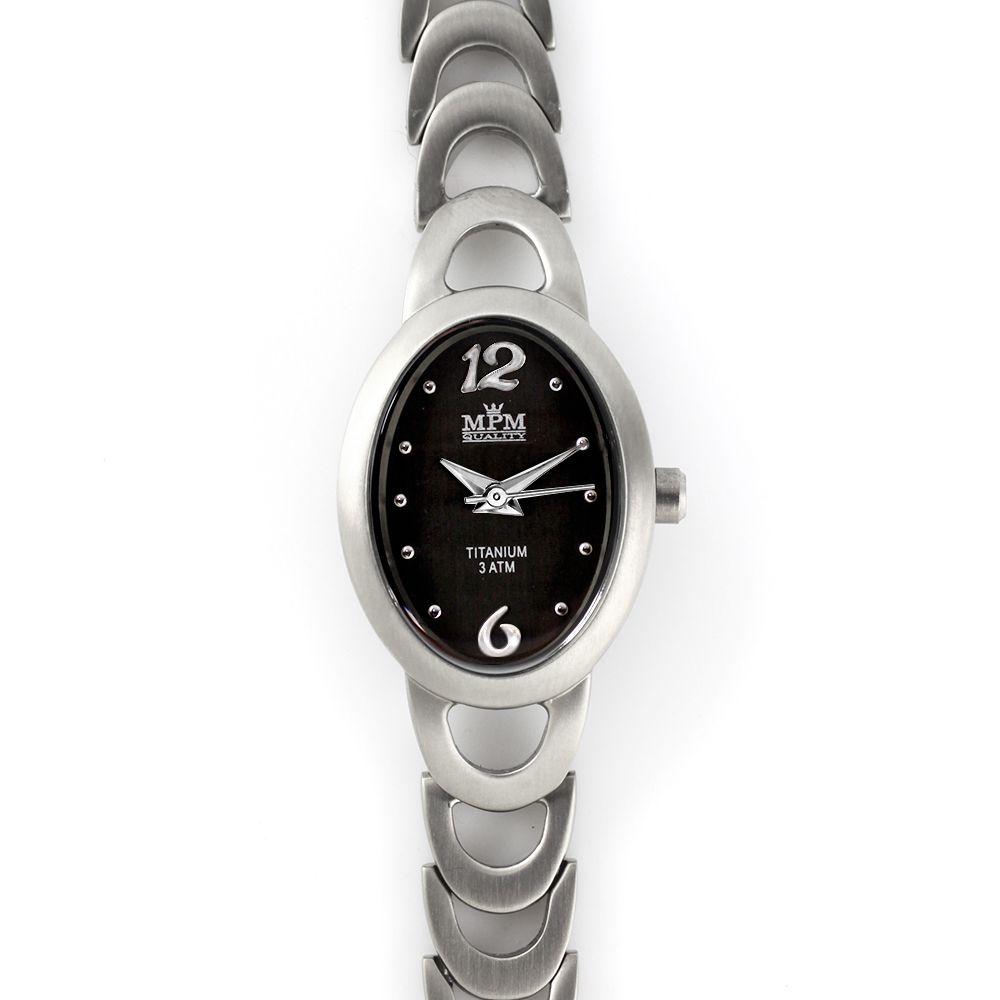 Dámské hodinky s černým číselníkem v titanovém pouzdře..0364 A.Q00F90J94 988bd3b0f7