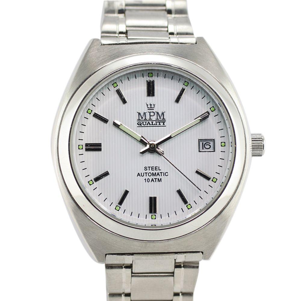 Elegantní pánské hodinky s datem a reliéfním číselníkem..0285 93e35ca5f9