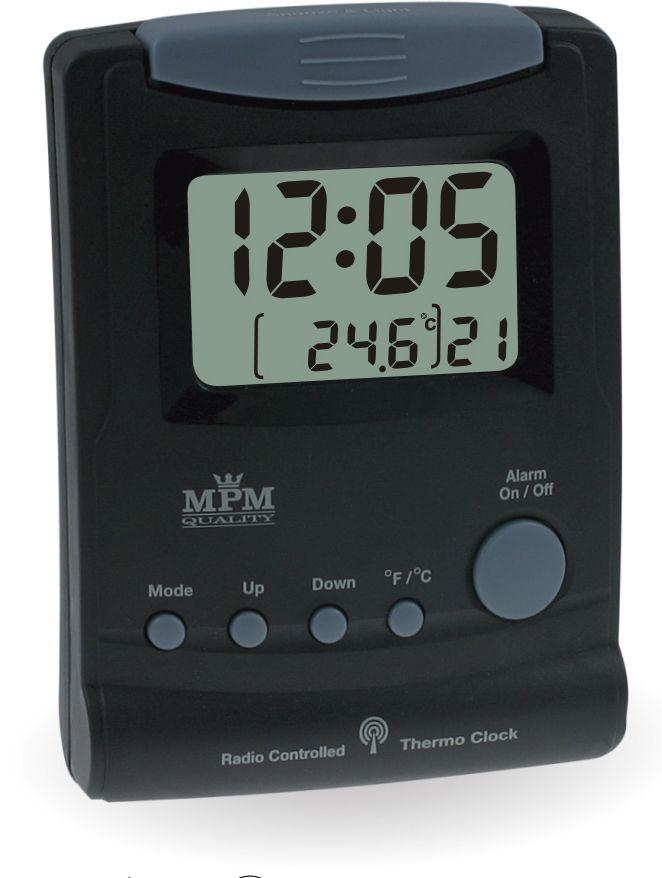 Rádiem řízený budík s jednoduchým digitálním displejem a funkcemi..0558