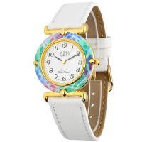 Elegantní dámské hodinky s koženým řemínkem..0579