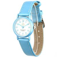 Barevné dětské hodinky s koženým řemínkem..0563