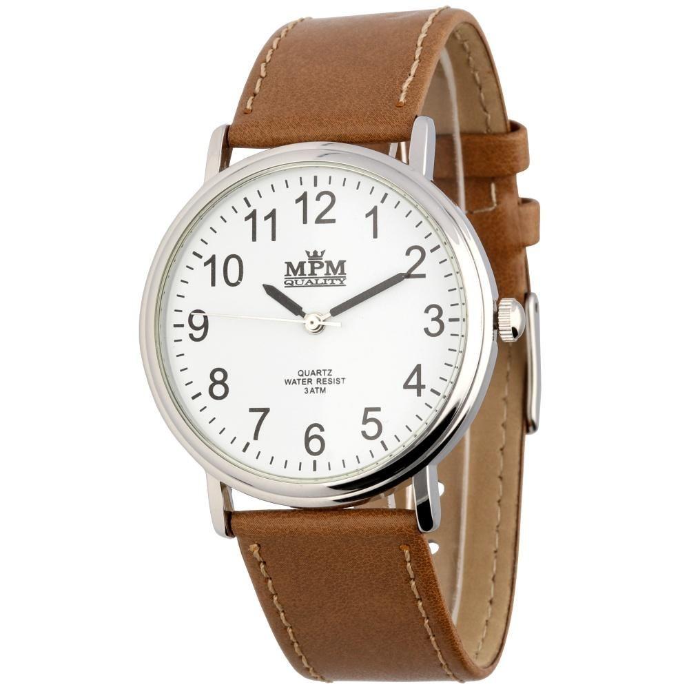 Klasické pánské hodinky s koženým řemínkem..0581 e4aa09a58a