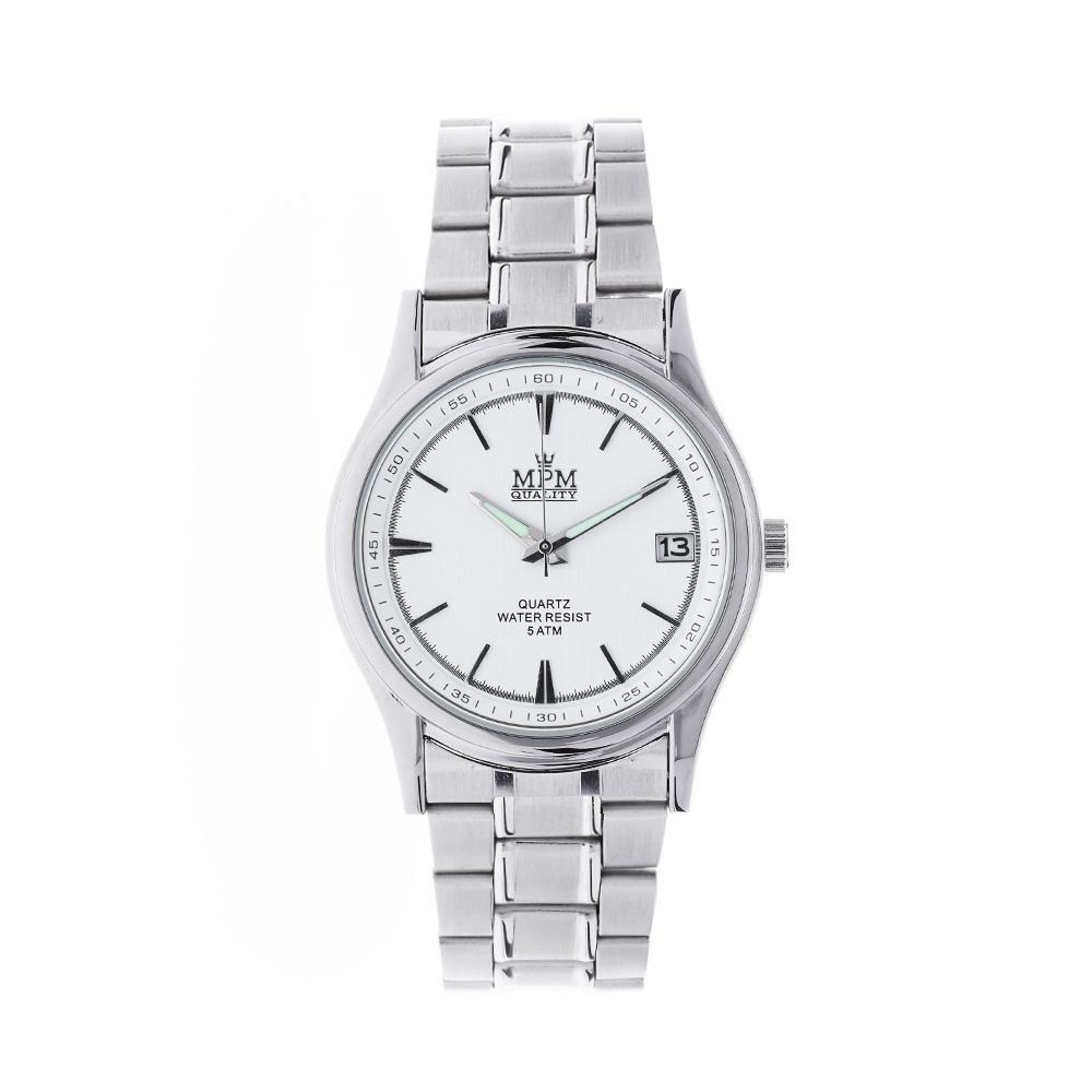 8477a85f90b Pánské quartz hodinky s ocelovým tahem a ukazatelem data..0943