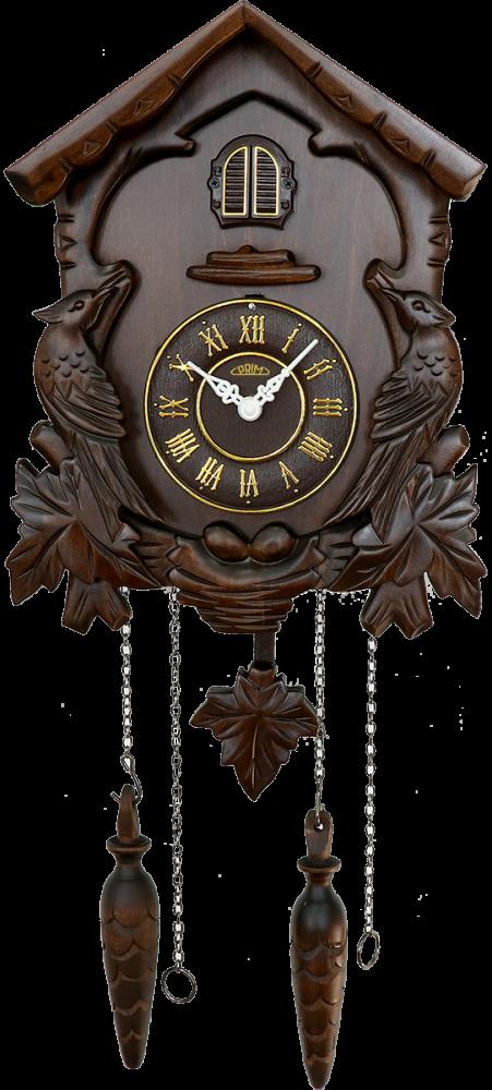 Nástěnné hodiny Dřevěné kukačkové hodiny ručně vyřezávané E07.3177.52 MPM Quality Nástěnné hodiny