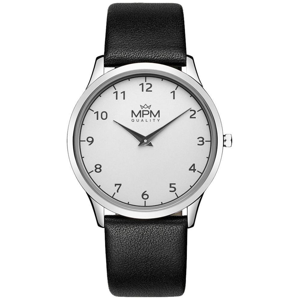 Nástěnné hodiny Pánské elegantní klasické hodinky s koženým řemínkem.  .01356 Nástěnné hodiny 20861dccb6