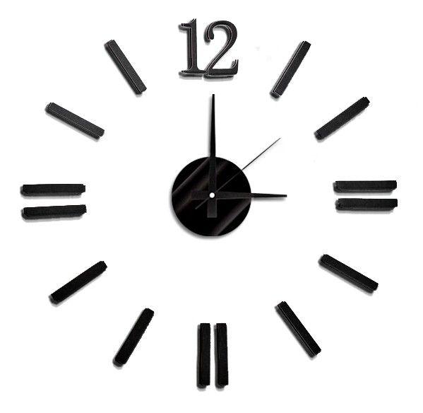 Nástěnné hodiny na stěnu nalepovací, nástěnné hodiny samolepící na zeď Nástěnné nalepovací hodiny 8