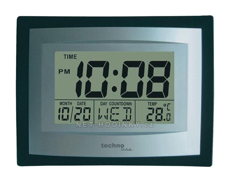 Technoline Digitální nástěnné hodiny Techno Line WS 8004.1 funkce budíku a opakované buzení, upomínky narozenin..