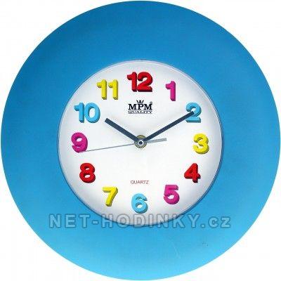 Hodiny na zeď, na stěnu nástěnné hodiny pro děti modrá