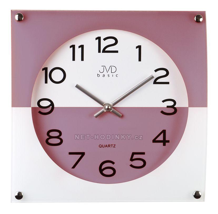 Nástěnné hodiny JVD N28114.1.1 červená, N28114.6 modrá, N28114.2 černá, N28114.3 šedá N28114.4.4