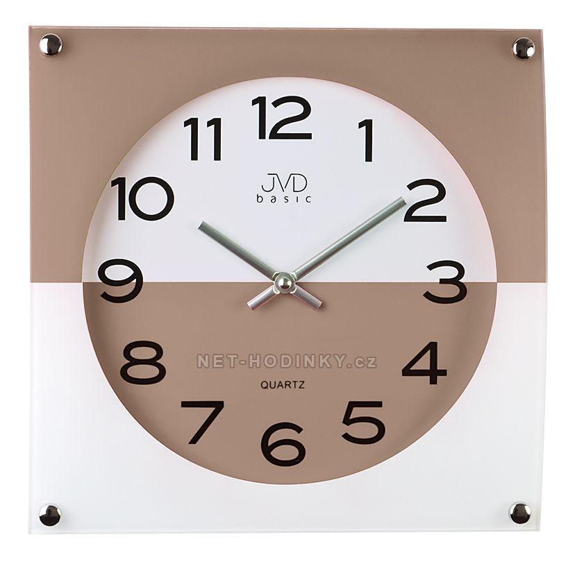 Nástěnné hodiny JVD N28114.1.1 červená, N28114.6 modrá, N28114.2 černá, N28114.3 šedá N28114.5.5