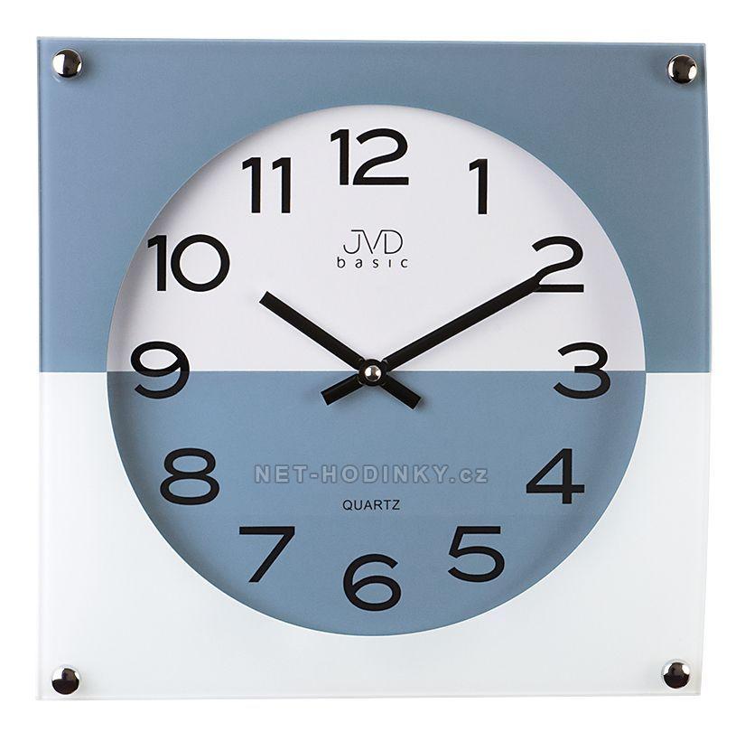 Nástěnné hodiny JVD N28114.1.1 červená, N28114.6 modrá, N28114.2 černá, N28114.3 šedá N28114.6.6