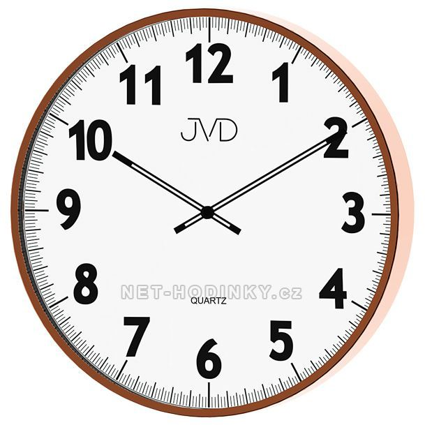 JVD Nástěnné hodiny na zeď, hodiny do kuchyně H13.2.2