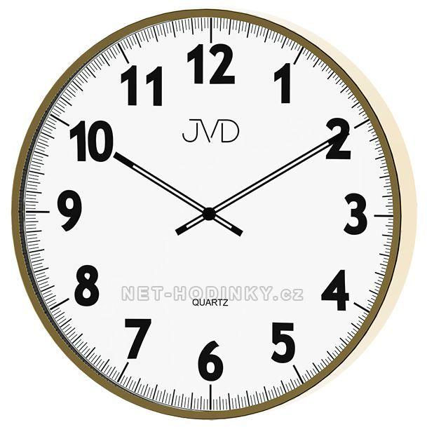 JVD Nástěnné hodiny na zeď, hodiny do kuchyně H13.3.3
