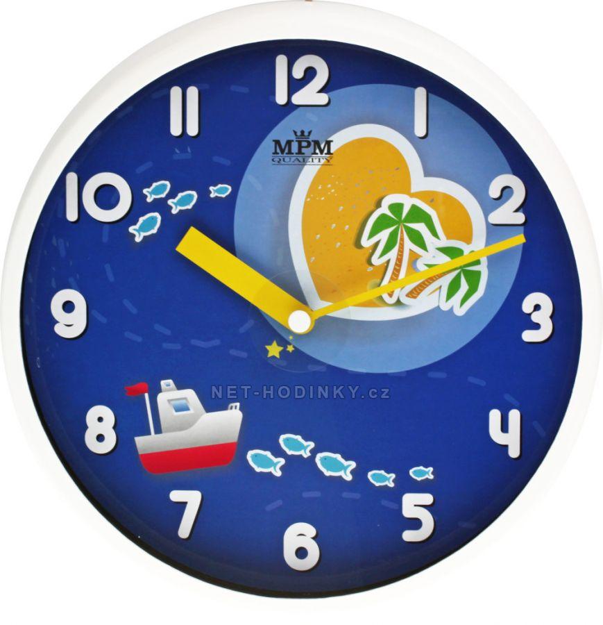 Nástěnné hodiny velké na stěnu, dětské nástěnné hodiny na zeď SWEEP