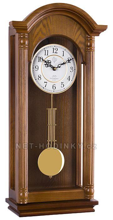 JVD Pendlovky, nástěnné kyvadlové hodiny s melodií, hodiny na zeď N20123/11 ořech