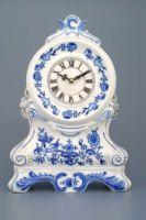 Stolní hodiny porcelánové cibulový dekor