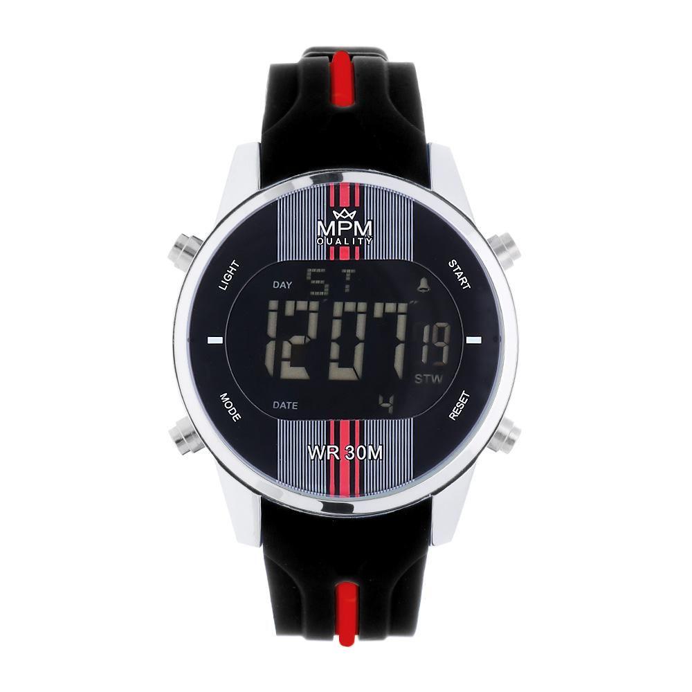 Pánské digitální hodinkyMPM s barevným silikonovým řemínkem..01342 A.Q07A9020C9020.2220