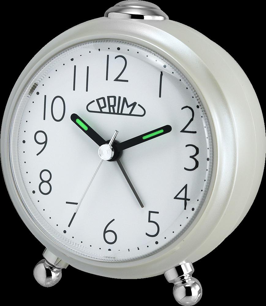Stylový budík, který se bude vyjímat na každém nočním stolku. Budík se vyznačuje tichým chodem a díky zesilujícímu alarmu a funkci opakovaného buzení určitě nezaspíte..01440 0200.A - perleť/bílá
