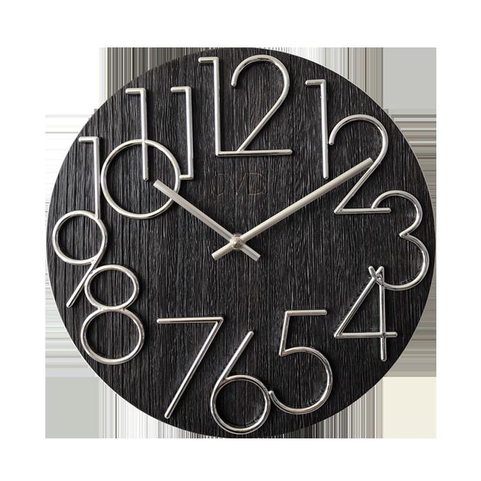 designové hodiny JVD černé