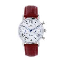 Moderní unisex hodinky s designovým ciferníkem a koženým řemínkem..01461