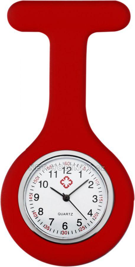 hodinky pro zdravotnický personál novinka, hodinky NURSE WATCH zdravotní sestry červená