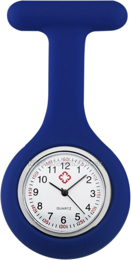 hodinky pro zdravotnický personál novinka, hodinky NURSE WATCH zdravotní sestry tm. modrá
