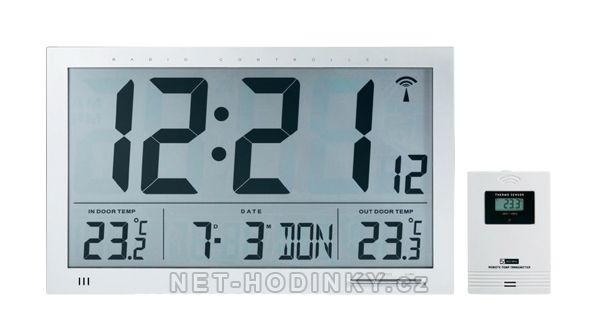 Hodiny řízené signálem DCF velké, hodiny na stěnu, stolní hodiny